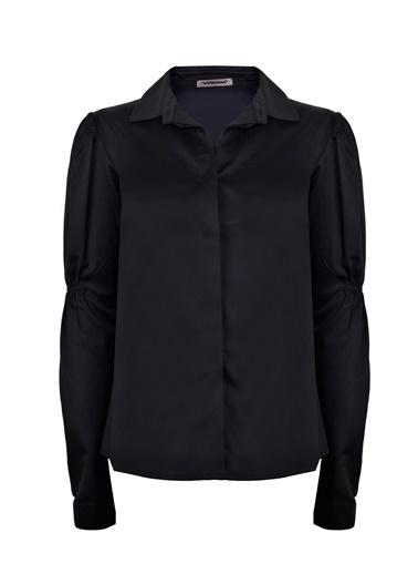 Vekem-Limited Edition Plikaşe Detaylı Gömlek Siyah